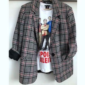 Sag Harbor Plaid Boyfriend Fit Jacket Wool